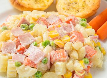 Ensalada de fideos con mayonesa